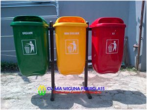tong sampah pilah 3 warna
